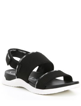 Uno Logo Webbing Sandals by Calvin Klein