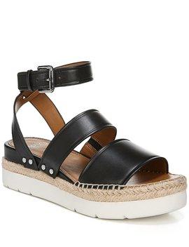 Sarto By Franco Sarto Calvin Leather Espadrille Sport Flatform Sandals by Franco Sarto