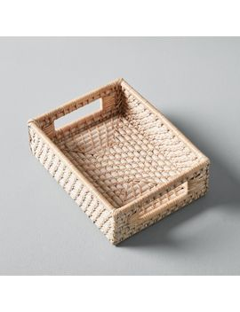 Modern Weave Basket, Whitewashed, Small by West Elm