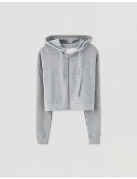 Sudadera Cropped Capucha Colores by Pull & Bear