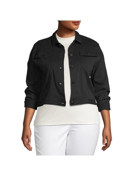 Women's Plus Size Colored Trucker Jacket by Love Sadie