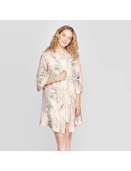 Women's Palm Print Simply Cool Robe   Stars Above Pink by Stars Above Pink