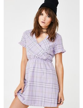 Check Print Wrap Dress by Daisy Street