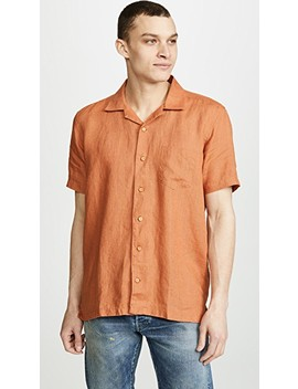 Stachio Linen Shirt by Far Afield