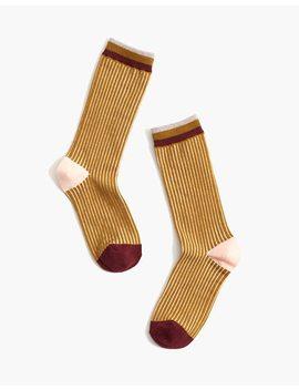 Contrast Stripe Trouser Socks by Madewell