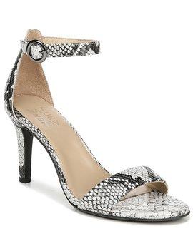 Kinsley Snake Print Ankle Strap Dress Sandals by Naturalizer