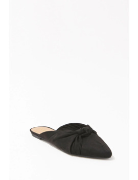 Knotted Faux Suede Flats by Forever 21