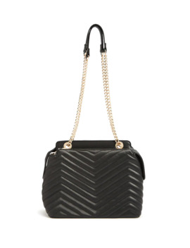 Chevron Quilted Satchel by Forever 21