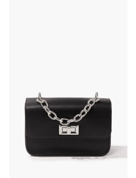 Faux Leather Square Crossbody Bag by Forever 21