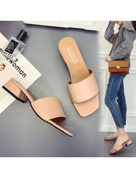 Chunki   Low Heel Slide Sandals by Chunki