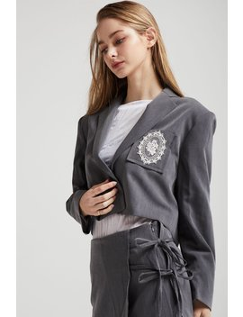 Madison Cropped Jacket W/Crest by Storets