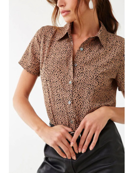 Cheetah Print Shirt by Forever 21