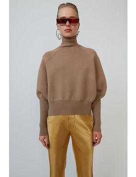 High Neck Sweater Desert Beige by Acne Studios