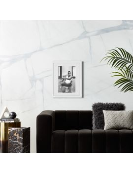 "Sade With White Frame 31""X42"" by Crate&Barrel"