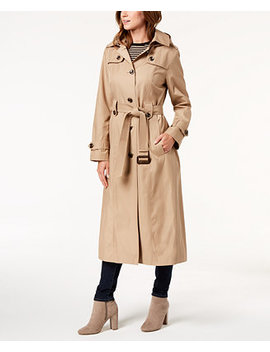 Petite Belted Maxi Trench Coat by General