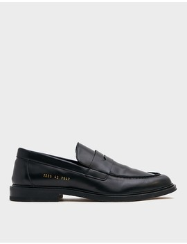 Standard Leather Loafer In Black by Common Projects