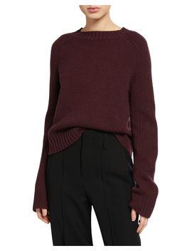 Shrunken Cashmere Crewneck Sweater by Vince
