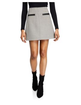 Reynolds Check Short Skirt by A.L.C.