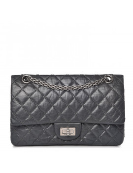 Chanel Aged Calfskin Quilted 50th Anniversary 2.55 Reissue 225 Flap Grey by Chanel