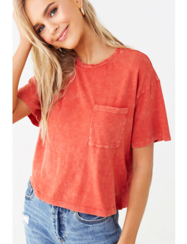 Stone Wash Pocket Tee by Forever 21