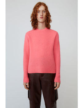 Pilled Crewneck Sweater Bright Pink by Acne Studios