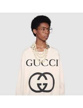 Oversize Sweatshirt With InterlockingG by Gucci