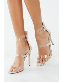 Open Toe Stiletto Heels by Forever 21