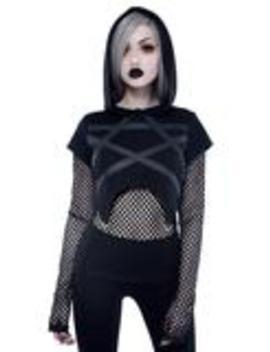Witchnet Hood Top by Killstar
