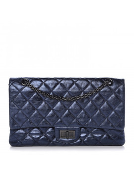 Chanel Metallic Aged Calfskin 2.55 Reissue Flap 227 Blue by Chanel