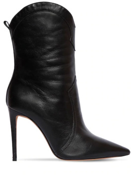 100 Mm Ester Leather Cowboy Boots by Alexandre Birman