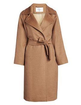 Manuela Icon Camel Hair Wool Wrap Coat by Max Mara