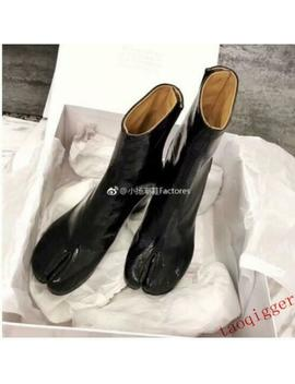New Womens Tabi Ankle Boots Genuine Leather 3 M Reflect Light Sequins Vogue Shoes by Unbranded