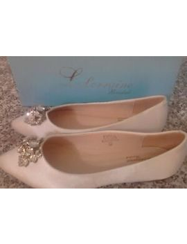 "Lauren Lorraine ~ Women's New \""Kindall\"" Bridal Flats ~ Msrp = $49.99 by Lauren Lorraine"