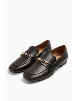 Lorenzo Black Square Toe Loafers by Topshop