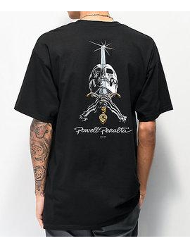 Bones Powell Peralta Skull &Amp; Sword Black T Shirt by Bones