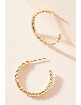 Lyra Twisted Hoop Earrings by Anthropologie