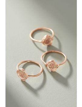 Sirciam 14 K Rose Gold Monogram Ring by Sirciam