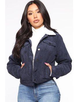 Enjoy The Ride Jacket   Navy/Combo by Fashion Nova