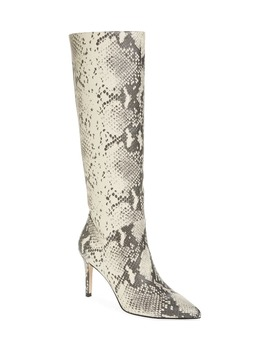 Kinga Snake Embossed Knee High Boot by Steve Madden