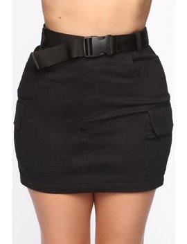 Cargo With Me Mini Skirt   Black by Fashion Nova