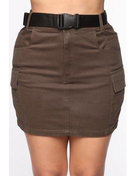 Cargo With Me Mini Skirt   Olive by Fashion Nova