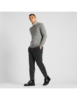 Men Ezy Houndstooth Jersey Ankle Length Pants by Uniqlo