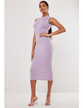 Lilac Rib Sleeveless Bodycon Midaxi Dress by Missguided