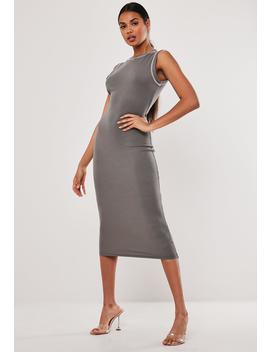 Grey Rib Sleeveless Bodycon Midaxi Dress by Missguided