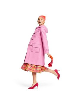 Women's Long Sleeve Hooded Duffel Coat   Isaac Mizrahi For Target Pink by Isaac Mizrahi For Target Pink
