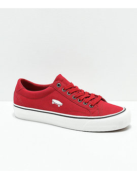 Vans Court Icon Red &Amp; Marshmallow White Skate Shoes by Vans