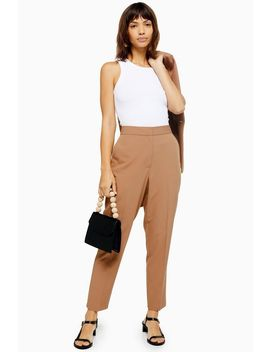 Camel Suit Trousers by Topshop