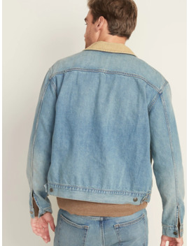 Corduroy Collar Jean Jacket For Men by Old Navy