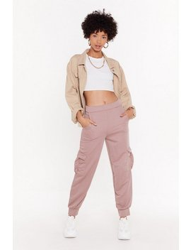You Better Cargo High Waisted Joggers by Nasty Gal