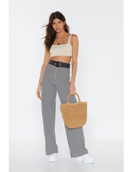 Love Bites Houndstooth Wide Leg Pants by Nasty Gal